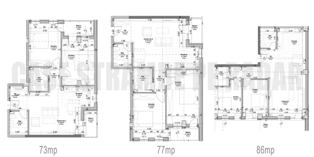 NUINCA Andr Mur Sud apartament-3-camere-C1-73 76 86mp