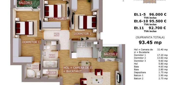 4 Camere In Rotar Park Residence – Cu Greseli